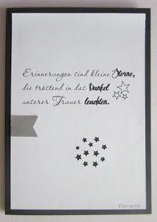 Trauerkarten für die Vorratskiste.   Den Spruch hatte ich bei Katrin  gesehen.