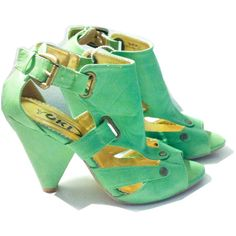 Vegan Faux Leather -Summer Sandals Strappy- Ankle Cuff ($30) ❤ liked on Polyvore