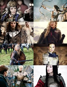 Badass women in armor