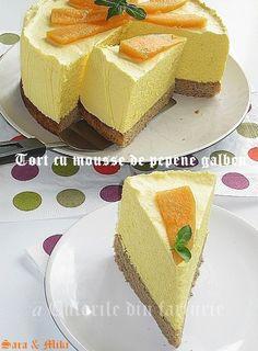» Tort cu mousse de pepene galbenCulorile din Farfurie