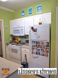i love lime green kitchens