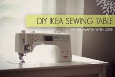 Today I'm pleased to share a DIY IKEA sewing table tutorial showing you how to make a custom sewing table from your INGO dining table. It's a lot easier than you think! If I can do it, you can do it.