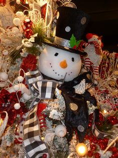 images snowman themed christmas trees - Google Search