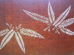 Vintage Japanese Katagami Stencil Bamboo Leaf by VintageFromJapan, $35.00