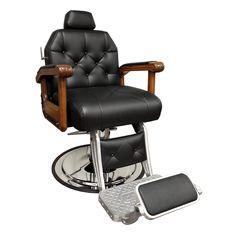 Genetic Los Angeles 72 Professional Multi-Purpose Salon Chair//Massage//Spa Table Adjustable Tattoo Chair with Stool Black