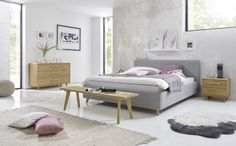 "Hasena Bett ""Dream-Line Ciara 28 Masi - Bettenland Framing Materials, Bed Sizes, Types Of Wood, Wood Species, Solid Wood, Diy Home Decor, Upholstery, Bedroom, Furniture"