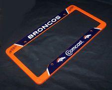 Denver Broncos Comcast Orange plastic License Plate Frame Cover NFL Official in Sports Mem, Cards & Fan Shop, Fan Apparel & Souvenirs, Football-NFL | eBay