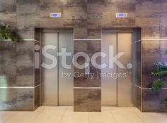 Two elevators in a modern building royalty-free stock photo