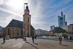 #architecture #church #culture #frankfurt #frankfurt am main germany #germany #hauptwache #hesse #old building #places of interest #religion #skyscraper #st catherines church