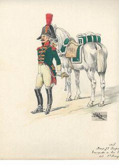 French;1er régiment de Dragons, Trumpeter, 1805