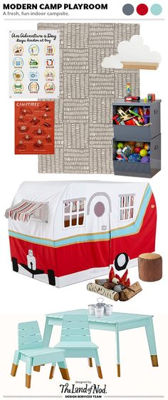 Camp Themed Playroom