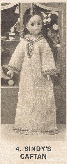 Vintage Crochet Knitting Patterns Sindy's Jumpsuit Caftan plus 19 inch Doll Patterns by PreciousIdentity on Etsy