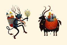 Krampus versus a Yule goat