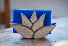 Lotus Flower Self Draining Handmade Ceramic Sponge Holder - -You can find Lotus and more on our website.Lotus Flower Self Draining Handmade Ceramic Sponge Holder - - Hand Built Pottery, Slab Pottery, Ceramic Pottery, Pottery Art, Thrown Pottery, Pottery Wheel, Pottery Shop, Pottery Studio, Handmade Pottery