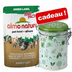 Animalerie  Sachets Almo Nature Label 24 x 55/70 g  boîte de conservation Hiver offerte !  Rouge Label Filets : filet de poulet surimi (55 g)