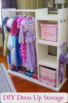 diy dress up storage center, storage ideas