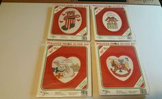Four (4) Vintage New Berlin Christmas Themed Counted Cross Stitch Kits Beginner