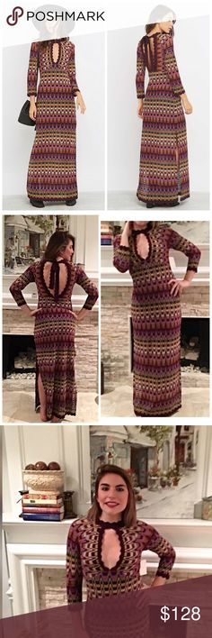 NWT Free People Sweater Jumper! Stunning retro inspired crochet maxi dress- a high neck tie closure creates a sophisticated look while a deep cut out neckline and an open back add a touch of femme. Side slits - perfection💋 Free People Dresses Maxi