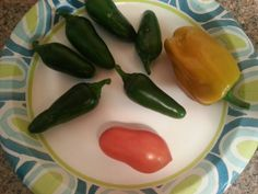 Jalapenos sweet pepper and tomato