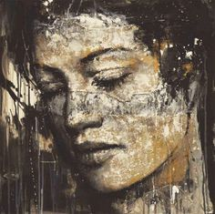 Palma Arte - Max Gasparini - 19 - The silence Acrylic Painting Lessons, Painting & Drawing, Gold Leaf Art, Chiaroscuro, Art Graphique, Portrait Art, Face Art, Contemporary Paintings, Mixed Media Art