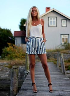 Cute Shorts! Fannystaaf.se » White And Blue  #