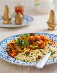 Vegetable tajine with chestnut and couscous
