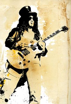 rock and roll portraits art | SLASH, Guns n Roses portrait, Rock and Roll, illustration, PoP Art ...