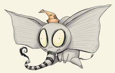 "Episode 58 - Creeping Soon: Tim Burton's Dumbo creepykingdom: "" SHOW NOTES: We discuss the announcement of Tim Burton directing a live action adaptation of ""Dumbo""! (Burtonized Dumbo by Dennis. Disney Drawings, Cartoon Drawings, Art Drawings, Anime Chibi, Manga Anime, Tim Burton Art Style, Tim Burton Drawings, Desenhos Tim Burton, Tattoo Cover"