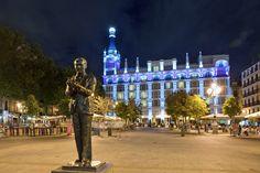 La poética plaza de Santa Ana. Madrid