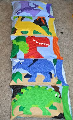 Dinosaur Pillowcase Pattern in PDF format