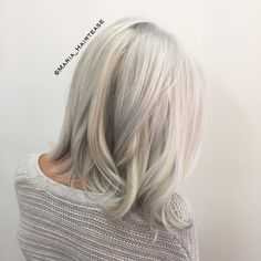 """219 Likes, 22 Comments - Maria (@maria_hairtease) on Instagram: """"Iced silver blonde Color•cut by me"""""""