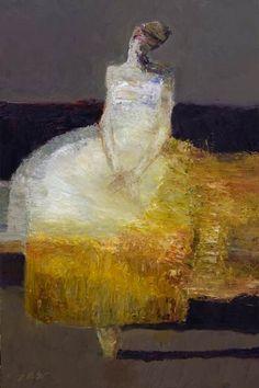 'The Dancer' by California-based American painter Dan McCaw (b.1942). Oil, 26 x 24 in. via SouthwestArt