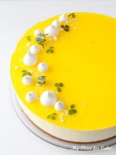 Cheesecake med citron og hvid chokolade - My Place for Cakes Cake Decorating Supplies, Cake Decorating Techniques, Diy Dessert, Dessert Recipes, Lemon Cheesecake, Cheesecake Recipes, Cupcakes, Cake Cookies, Cheesecake Decoration
