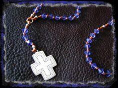 Sterling Silver Bohemian Cowgirl Cross Beaded by LivingFreeByEP, $78.00