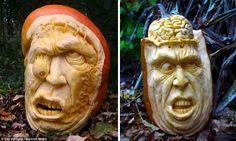 Ray Villafane pumpkin carvings