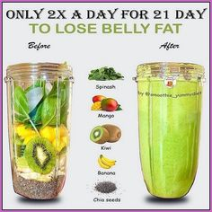 Weight Loss Smoothie Recipes, Fruit Smoothie Recipes, Easy Smoothies, Smoothie Drinks, Smoothie Diet, Healthy Weight Loss, Vegan Smoothies, Healthy Detox, Healthy Juices