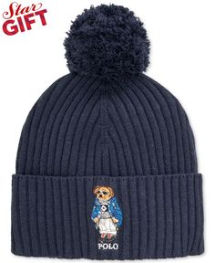 9c1870a8811 Polo Ralph Lauren Ski Bear Pom-Knit Cuffed Beanie   Reviews - Hats