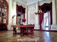 Luxurious interiors of Yusupov Palace in St.Petersburg
