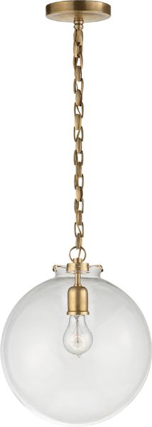 Katie Large Fitter Pendant With Large Globe Glass - TOB5226HAB/G4