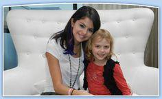 Selena Gomez and the Make a Wish Foundation.  http://www.wish.org/stories/sports_entertainment/music/ella_s_selena_gomez_wish
