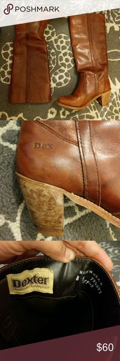 Vintage Dexter boots 1970s Vintage Dexter cognac boots. All leather, recently re-heeled in excellent condition. Bought at a boutique vintage store in Austin. Dexter Shoes Heeled Boots