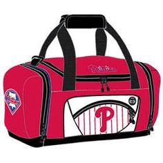 Philadelphia Phillies Duffel Bag - Red Roadblock Style