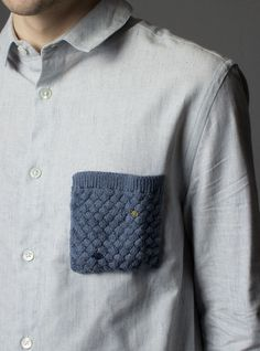 Couverture and The Garbstore - Mens - Monsieur Lacenaire - Long Sleeve Knitted Pocket Shirt