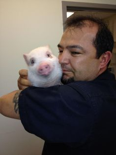 Chris P. Bacon and his daddy.