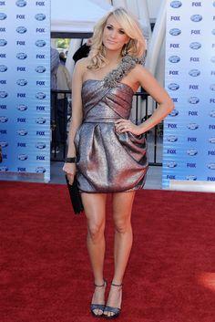 Carrie Underwood One Shoulder Dress - Carrie Underwood Looks - StyleBistro