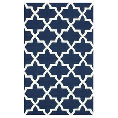 Hand-hooked wool rug with a Moroccan trellis motif.   Product: RugConstruction Material: 100% WoolColor:...