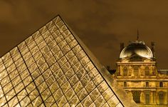 Musee du Louvre pyramid, France