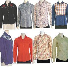 Vintage Lot Cowgirl Western Rockabilly Shirts Blouse 1970s 1980s Karman Wrangler #KarmanPriorWranglerKennyRogers