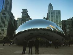 Walking around Millennium Park today! Even if touristy attractions aren't your thing you can't help but enjoy watching everyone take fun pictures at the Bean!