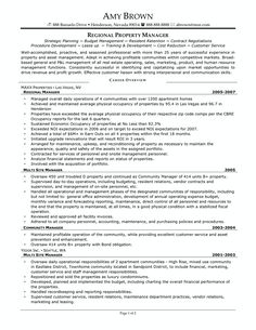Property Manager Resume Sample  Sample Resumes  Sample Resumes
